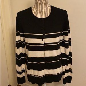 Ann Taylor Striped Cashmere Sweater
